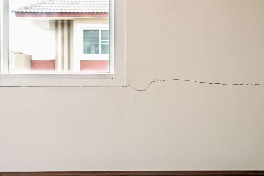 Crack in a House Wall