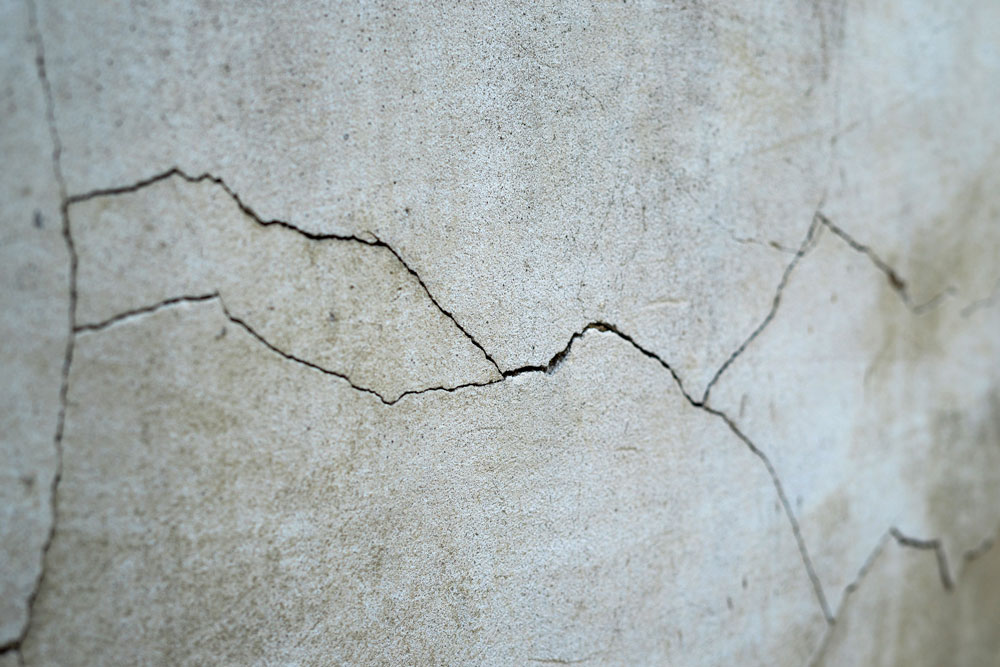 Old Foundation With Cracks