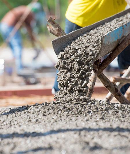 commercial concrete pouring